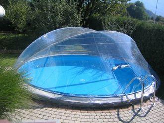 Cabrio Dome Überdachung, Pool Abdeckung für Stahlmantel Rundbecken
