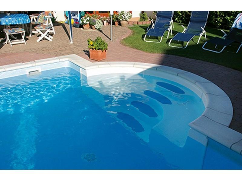 sunstar pool r mische treppe 1 5 m breit pools innenh lle einbauteile stahlsegmentbecken. Black Bedroom Furniture Sets. Home Design Ideas