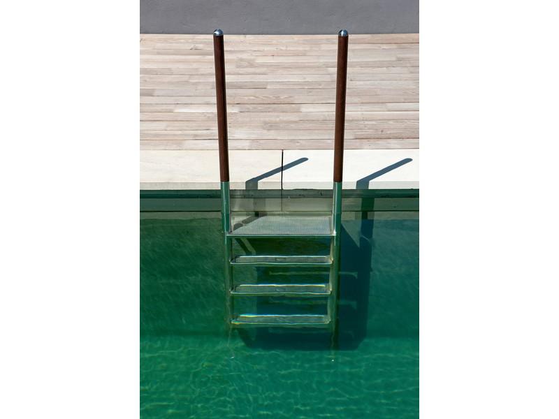 Gut bekannt Pool Leiter ROMA 4-stufig, Griffstangen Edelstahl/Holz schraubbar QI18