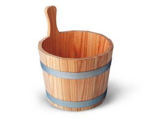 Sauna-Aufgusskübel / Saunaeimer aus Lärche naturbelassen 5 Liter