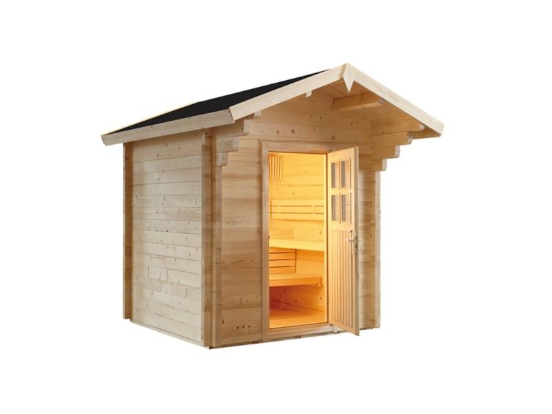 Garten Sauna Country aus massiver Fichte 230 x 230 x 290 cm