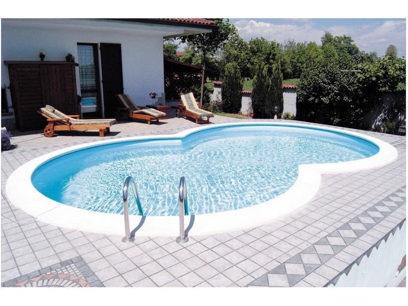 Stahlmantel achtformbecken 1 20 m hoch folie 0 6 mm pools for Folienfarbe pool